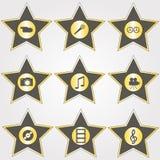 золотистые звезды комплекта Стоковая Фотография