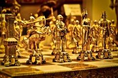 Золотистые диаграммы шахмат Стоковые Фото