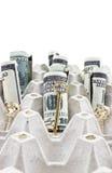Золотистые ключи с долларами стоковые изображения rf