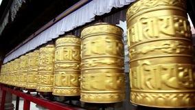 Золотистые колеса молитве видеоматериал