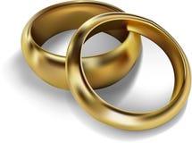 золотистые кольца Стоковая Фотография