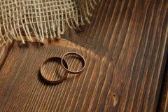 золотистые кольца wedding Стоковое Изображение