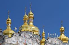 Купол собора предположения в лавре Стоковое Фото