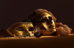 золотистые маски venetian Стоковая Фотография RF
