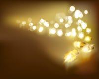 золотистые светильники также вектор иллюстрации притяжки corel иллюстрация вектора