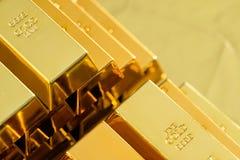 золотистые слитки Стоковые Фото