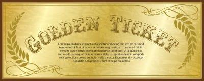 Золотистый билет иллюстрация вектора