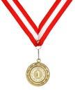золотистый вектор медали Стоковое Фото