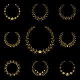 Золотистый венок иллюстрация вектора
