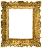 Золотистый вырез картинной рамки Стоковые Изображения RF