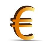 Золотистый знак евро Стоковое Изображение RF