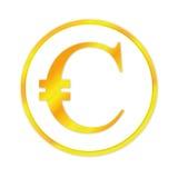 Золотистый знак евро Иллюстрация вектора