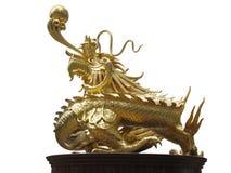 Золотистый китайский имперский дракон Стоковые Изображения RF