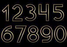 золотистый комплект номера Стоковое Изображение RF