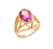 золотистый красный камень кольца Стоковые Изображения