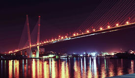 Золотистый мост Стоковые Фотографии RF