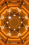 Золотистый потолок Стоковые Фото