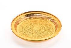 золотистый поднос Стоковое фото RF