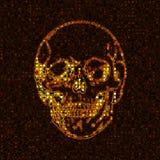 золотистый череп Стоковые Фото