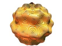 Золотистый шар Стоковое фото RF