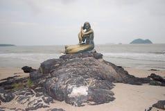 золотистый mermaid Стоковые Изображения