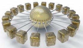 Золотое взаимодействие Стоковая Фотография RF