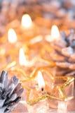Золотое горение миражирует предпосылку blured bokeh Стоковое фото RF