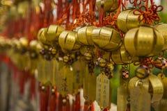 Золотое желание колоколы стоковое изображение rf