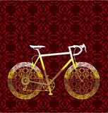Золотое искусство вектора велосипеда Стоковое Изображение RF
