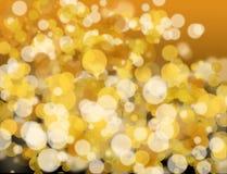 Золотое и белое bokeh стоковые фотографии rf