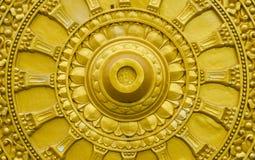 Золотое колесо Dhamma Стоковое Изображение