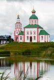 Золотое кольцо православной церков церков России Стоковые Фотографии RF