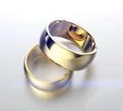 Золотое обручальное кольцо с диамантом или moissanite Backg ювелирных изделий Стоковая Фотография RF