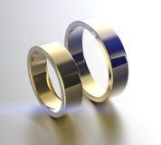 Золотое обручальное кольцо с диамантом или moissanite Backg ювелирных изделий Стоковое Изображение