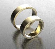 Золотое обручальное кольцо с диамантом или moissanite Backg ювелирных изделий Стоковые Изображения