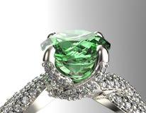 Золотое обручальное кольцо с диамантом или moissanite Backg ювелирных изделий Стоковые Фотографии RF