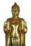 Золотое положение Будды и поднимает рука 2 Стоковые Фотографии RF