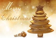 Золотое рождество Стоковое Фото