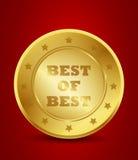 Золотое самое лучшее самого лучшего уплотнения Стоковое фото RF