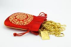Золотое счастливое золото Будды и орнамента Стоковое Изображение