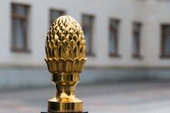 Золотое украшение загородки конуса Стоковые Фотографии RF