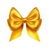 Золотое украшение смычка на белизне Стоковое Изображение