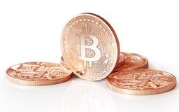 Золотое Bitcoins Стоковая Фотография RF