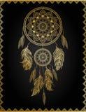 Золотое dreamcatcher, иллюстрация вектора Стоковое Фото