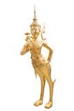 Золотое Kinnari на виске изумрудного Будды Стоковые Фотографии RF