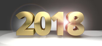 2018 золотое sylvester смелейшие 2018 3D Стоковое Изображение RF