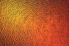 Золотой апельсин и предпосылка желтого цвета стеклянная - абстрактное искусство и цвет Стоковое Изображение RF
