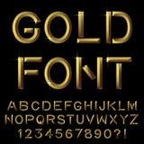 Золотой алфавит баров Стоковая Фотография