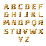 золотой алфавит 3D иллюстрация вектора
