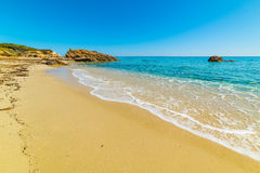 Золотой берег в пляже Санты Giusta Стоковая Фотография
